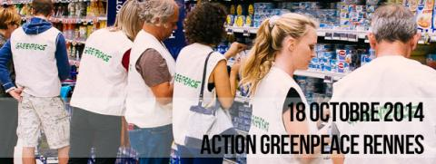 Action Greenpeace Rennes 18-10-2014